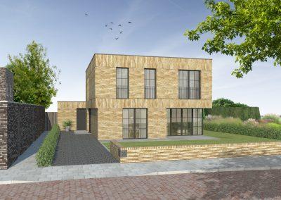 WY. Architecten - gevel impressie  woonhuis Blixembosch