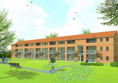 WY. Architecten - visualisatie seniorenappartementen Heugemerhof