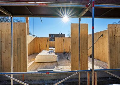 WY.architecten - houten draagstructuur